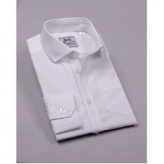 Рубашка классическая, длинный рукав, 100% хлопок, белый
