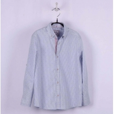 Рубашка BoGi casual Серо-белая