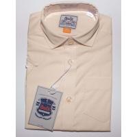 Рубашка классическая, кор. рукав, беж