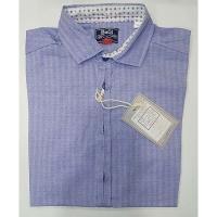 Рубашка для мальчика, голубой, 100% хлопок,