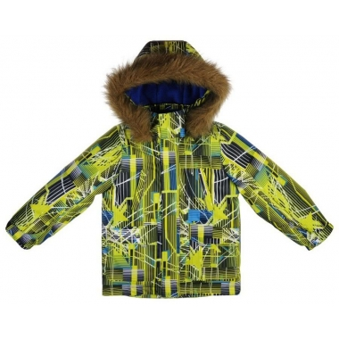 Куртка для мальчика ЗИМА-САЛАТ,мембрана/термолофт200/флис 0-25