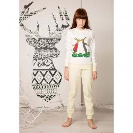 Пижама Овен Ламур Белая с желтым