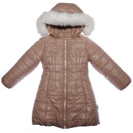 Пальто для девочки ЗИМА, плащевка/синтепон/флис