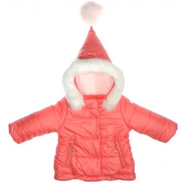 Куртка для девочки ЗИМА , плащевка/ синтепон/ флис