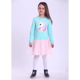 Платье ЕДИНОРОГ-2, двухнитка - 86% хлопок