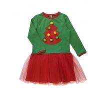Платье ЁЛОЧКА, двухнитка  (95% хлопок, 5% эластан)