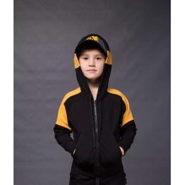 Спортивная кофта Овен Дайон Черный с желтым