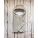 Одеяло-конверт с капюшоном,  69*69, Махра утеплитель силикон