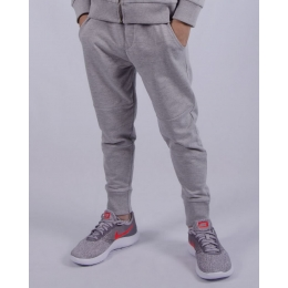 Штаны спортивные (152-170), светло-серый меланж, 60% хлопок