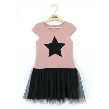 Платье Звезда короткий рукав 95% хлопок, 5% ластан