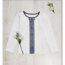 Блузка с длинным рукавом ЭТНО (стрейч-кулир)