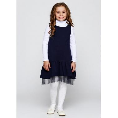 Платье школьное ЛЮКС, двухнитка - 86% хлопок, 11% полиэстер, 3% эластан