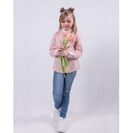Блузка для девочки персиковая полоска