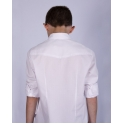 Нарядная белая рубашка, фактура ромбик