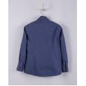 Рубашка тёмно-синяя с принтом 100% хлопок