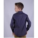 Стильная тёмно-синяя рубашка принт пунктир