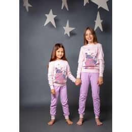Пижама Овен Мару-3 Розовая с лиловым