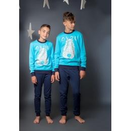Пижама Овен Чуи-2 Бирюзовая с синим