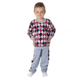Пижама РОМБИКИ, интерлок- 100% хлопок