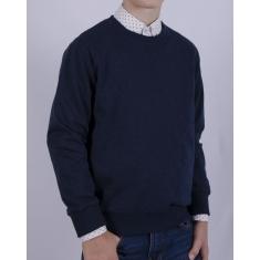 Свитшот (146-170), темно-синий меланж, 60% хлопок