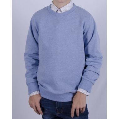 Свитшот (152-170), голубой меланж, 60% хлопок