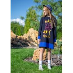 Платье Овен Томоко синий