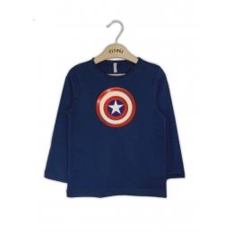 Футболка с длинным рукавом Капитан Америка Синий