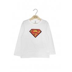 Футболка с длинным рукавом Супермен Белый
