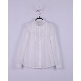 Блуза батист, молочная школьная 100% хлопок