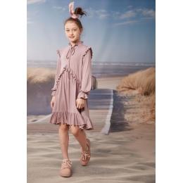 Платье Овен Кира-3 Розовый  в точку