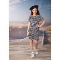 Платье Овен Шери Черно-белый