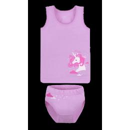 Детский комплект белья для девочки Габби Единорожка Сиреневый