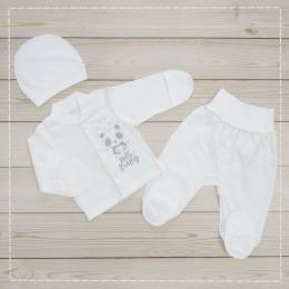 Комплект Hello Baby Полотно - супрем, хлопок 100%. Молочный