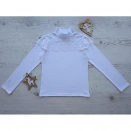 Блуза МАКРАМЕ, длинный рукав, стрейч-кулир,  95% хлопок
