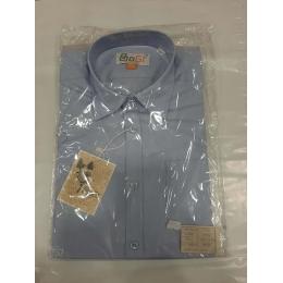 Рубашка для мальчика, короткий рукав, 100% хлопок, голубой