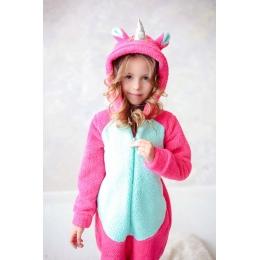 Детское кигуруми пижама Габби Единорог Розовый