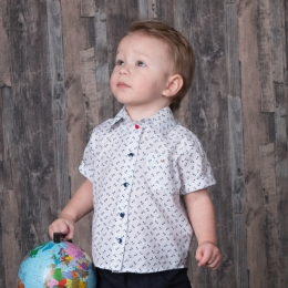 Рубашка ЯКОРЯ, поплин-100%хлопок