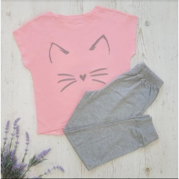 Пижама летняя СОНЯ-3, супрем- 100% хлопок Серый