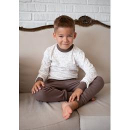 Пижама Овен Барни Молочный с коричневым