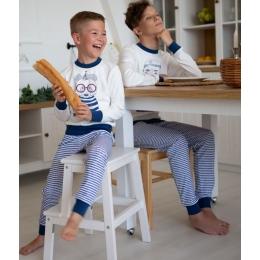 Пижама Овен Волна-2 Молочный с синим