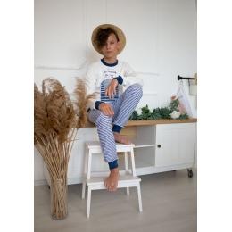 Пижама Овен Волна-3 Молочный с синим