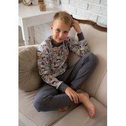 Пижама Овен Гав-3 Серая с антрацитом