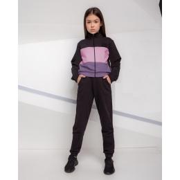 Спортивный костюм Robinzone Повседневный Черный с фиолетовым