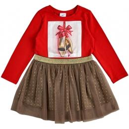 Платье стрейч-кулир Красный