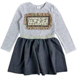 Платье стрейч-кулир Серый-меланж