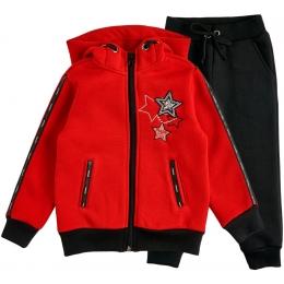 Спортивный костюм футер красный