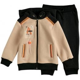 Спортивный костюм футер бежевый