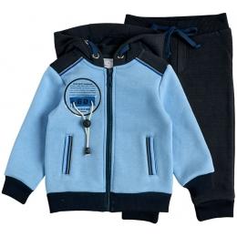 Спортивный костюм футер голубой