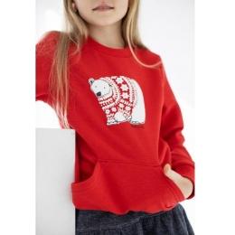 Джемпер Robinzone  Медведь в свитере Красный