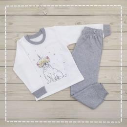 Пижама Кена Теплая Молочная с серым